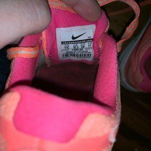 Nike Shoes - Girls size 11 toddler Nike's neon yellow/orange